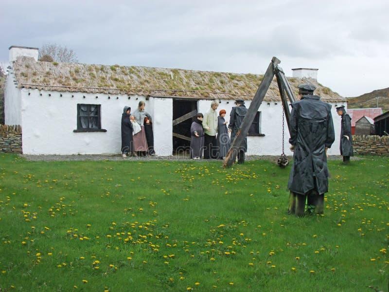 Vila irlandesa velha Co da fome Donegal fotografia de stock royalty free