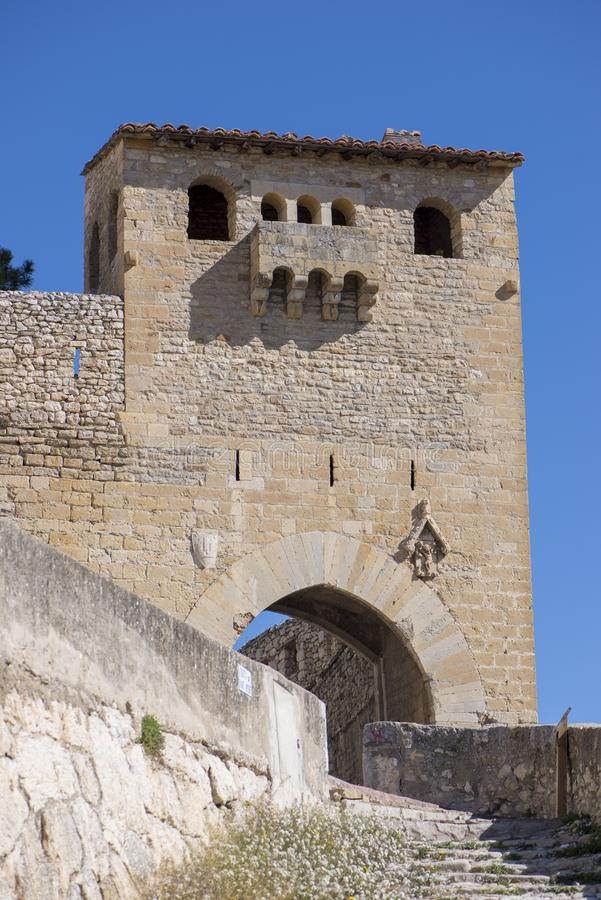 A vila medieval bonita de Morella, Castellon fotos de stock