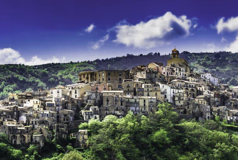 Vila medieval de Badolato imagem de stock