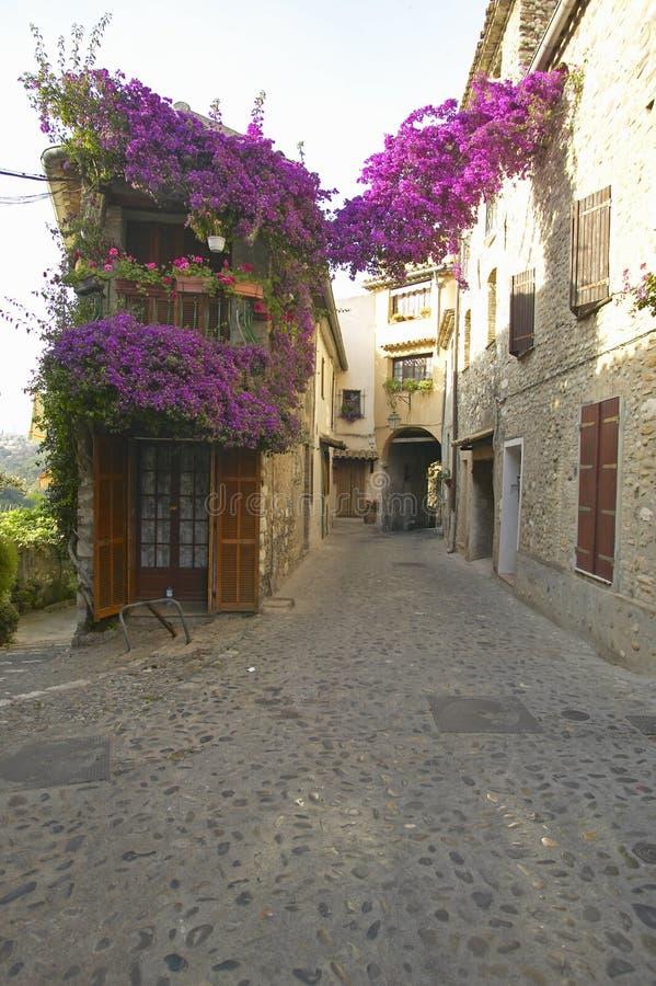 Vila medieval de Haut de Cagnes, França foto de stock royalty free
