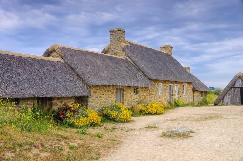Vila Meneham em Finistere em Brittany fotografia de stock royalty free