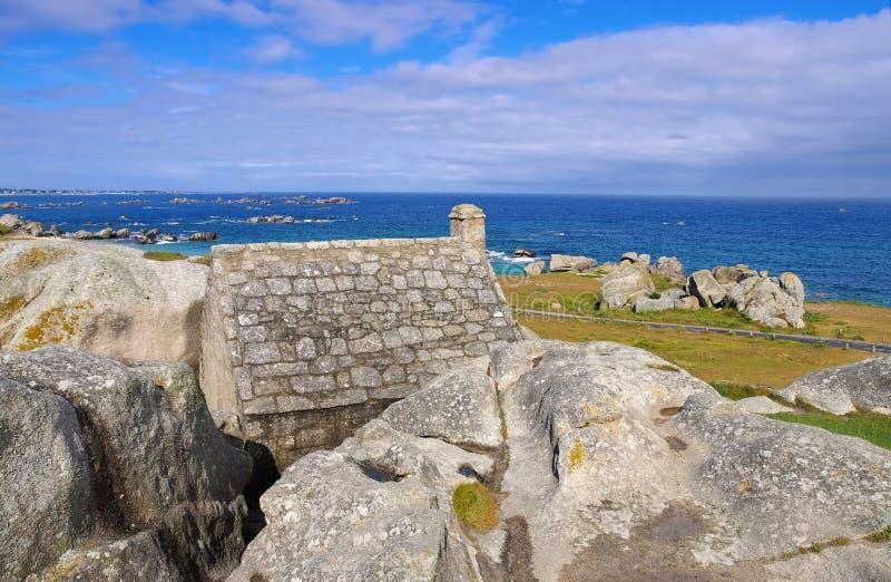 Vila Meneham em Finistere em Brittany imagens de stock