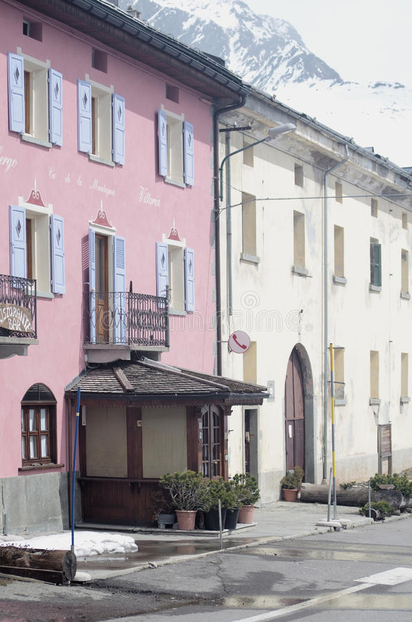 Vila Montespluga, Itália foto de stock royalty free