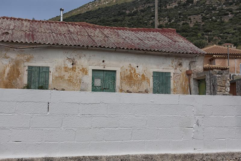Vila na ilha de Kefalonia, Grécia fotos de stock