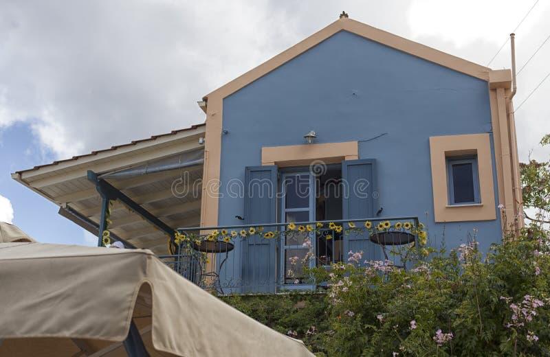 Vila na ilha de Kefalonia, Grécia imagem de stock