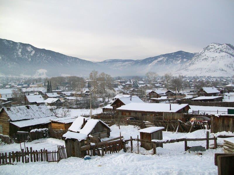Vila na montanha fotografia de stock