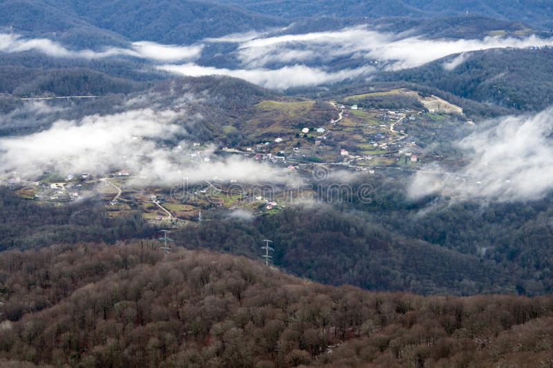 A vila na montanha Ahun foto de stock royalty free