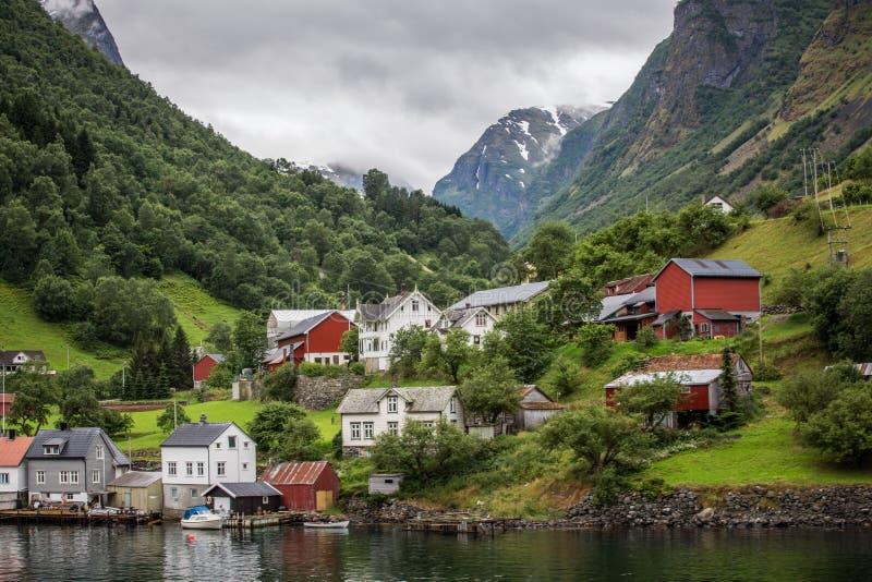 Vila norueguesa imagens de stock