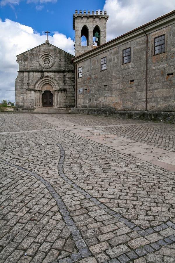 Vila Nova de Famalicao, il Portogallo - Santiago de Antas Monastery e chiesa immagini stock libere da diritti