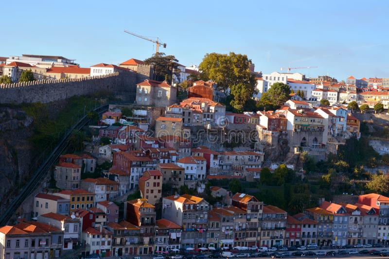 Vila Nova de Gaia, Portugal - urban architecture on a city street stock images
