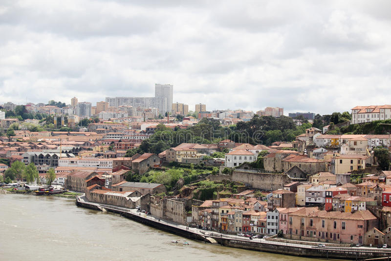 Vila Nova de Gaia, view from Porto royalty free stock photo