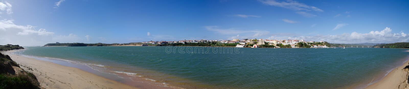 Vila Nova DE Milfontes panorama royalty-vrije stock fotografie