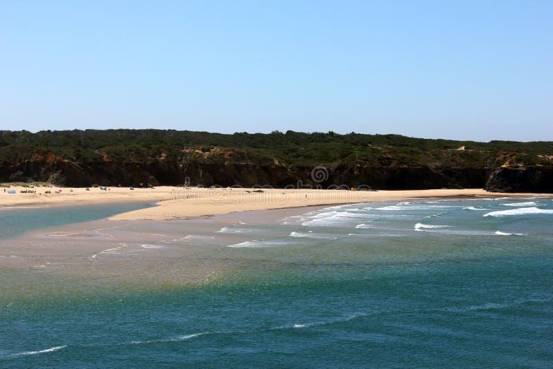 Vila Nova de Milfontes-strand, Portugal royalty-vrije stock foto's