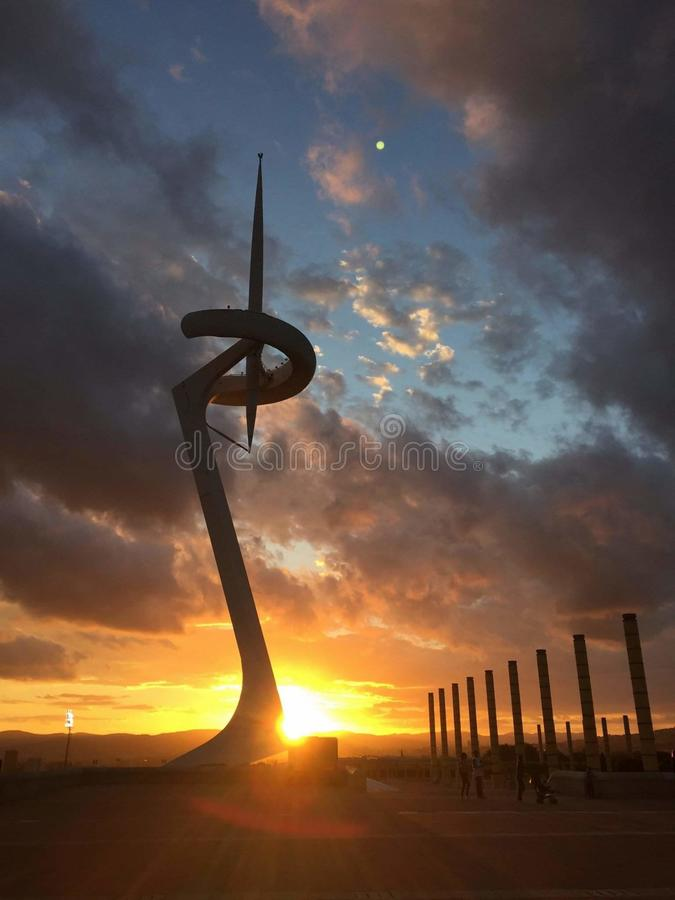 Vila olímpica em Barcelona imagem de stock royalty free
