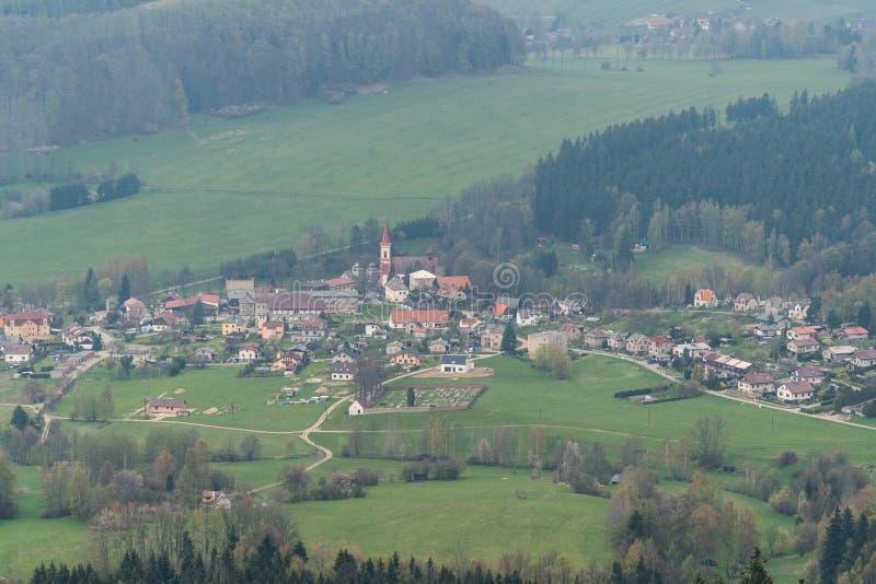 Vila pequena Machov, República Checa imagem de stock