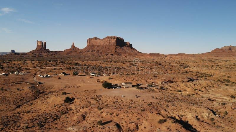 "Vila perto vale monumento do Oljato†do ""no Arizona Hou do rancho foto de stock"