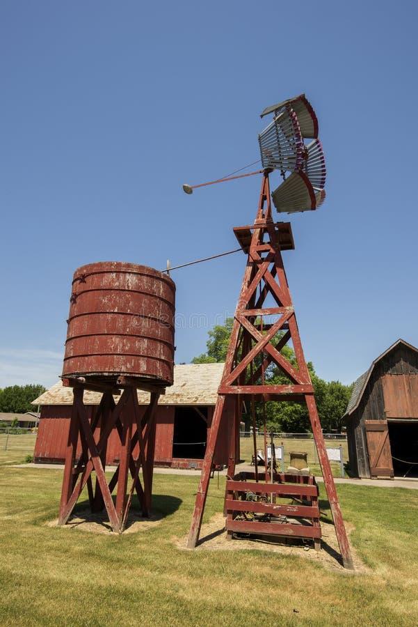 Vila pioneira velha, Kalona Iowa fotos de stock royalty free