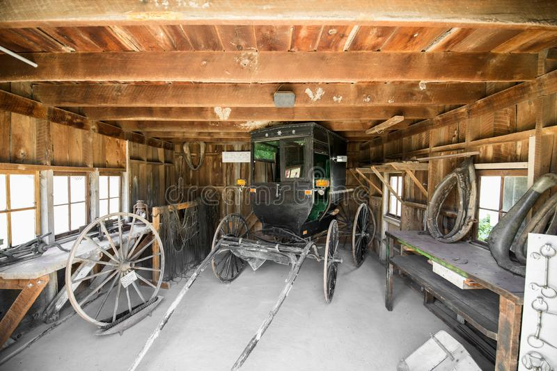Vila pioneira velha, Kalona Iowa imagem de stock royalty free