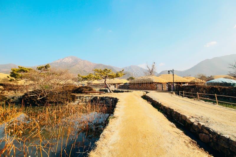 Vila popular de Naganeupseong Nagan em Coreia fotos de stock