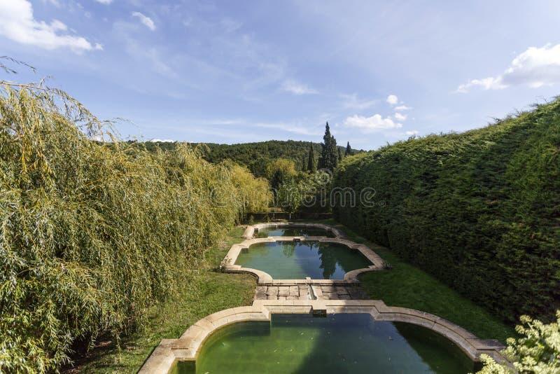 Vila Real - Mateus Palace Gardens arkivfoto