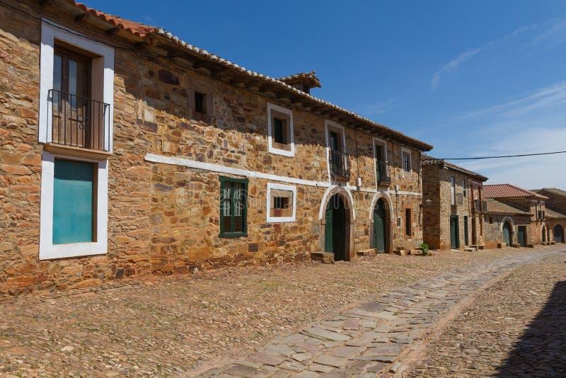 Vila Rua Castrillo de Los Polvazares fotografia de stock