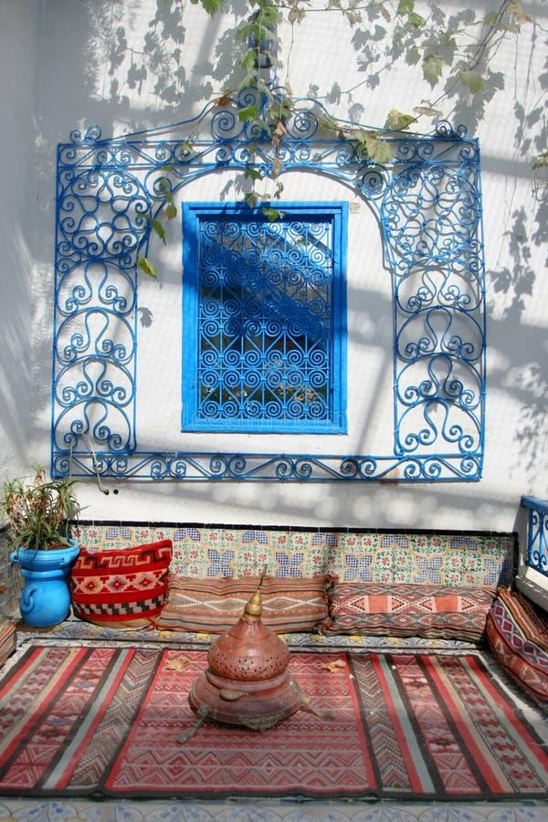 Vila stället Sidi Bou Said royaltyfri fotografi