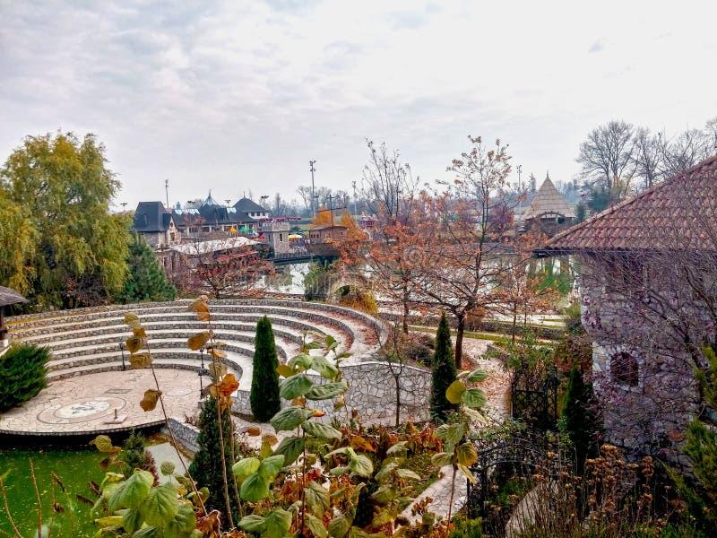 Vila Stanisici de Ethno em Bósnia fotografia de stock royalty free
