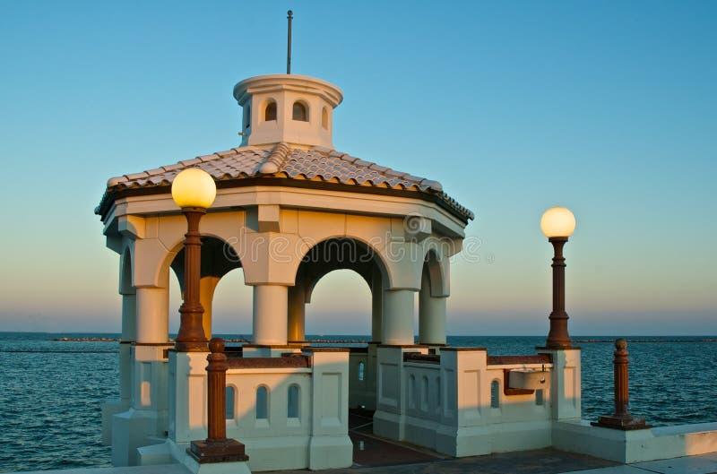Vila stationen på Corpus Christi, Texas Seawall royaltyfri foto