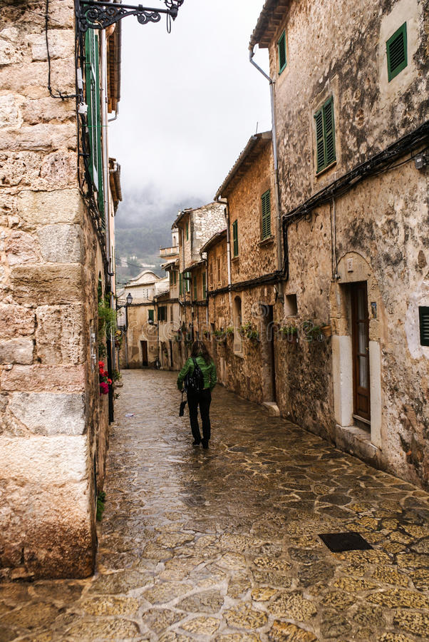 Vila típica de Majorca Valldemossa. fotografia de stock royalty free