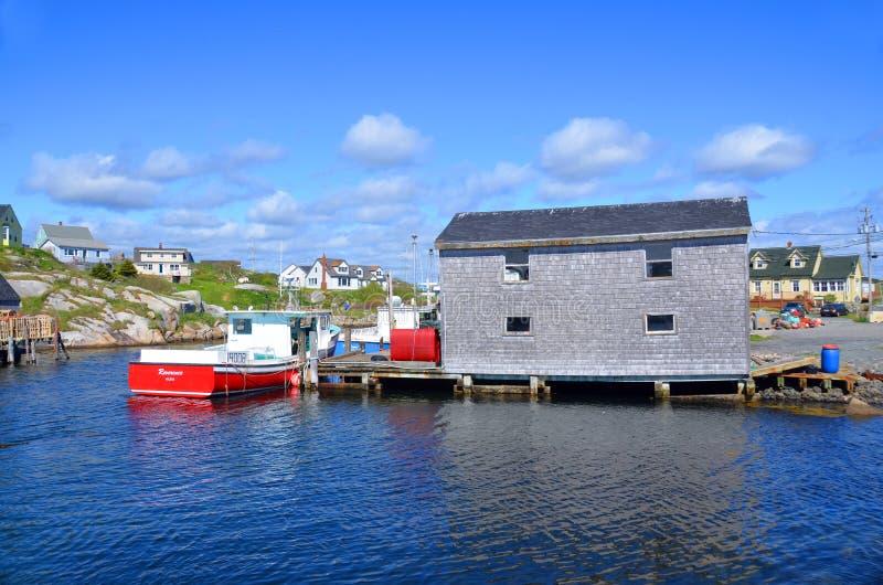Vila típica do pescador fotografia de stock