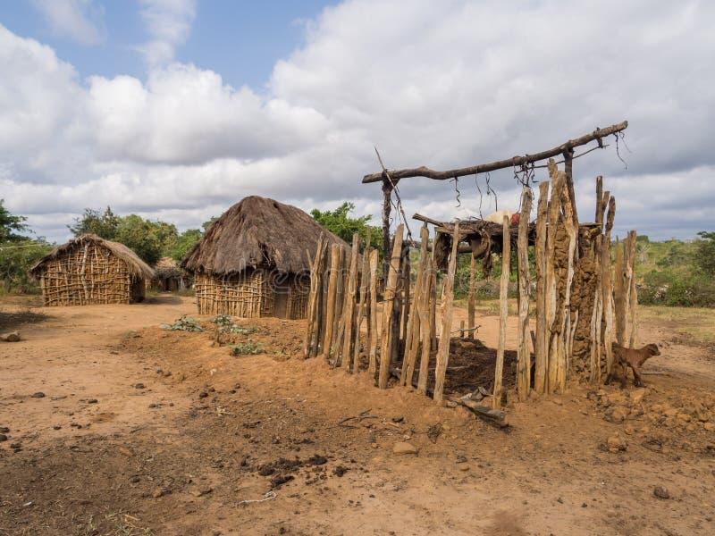 Vila tanzaniana imagens de stock royalty free