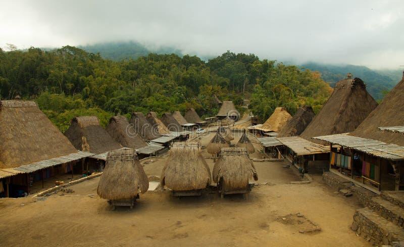 Vila tradicional Bena na ilha Indonésia de Flores fotografia de stock royalty free