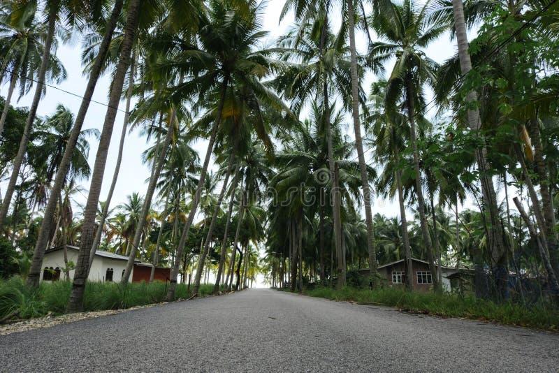 Vila tradicional bonita situada em Terengganu, Malásia imagens de stock