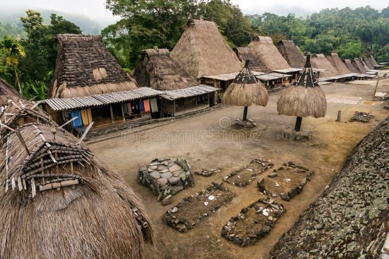 Vila tradicional de Bena fotografia de stock