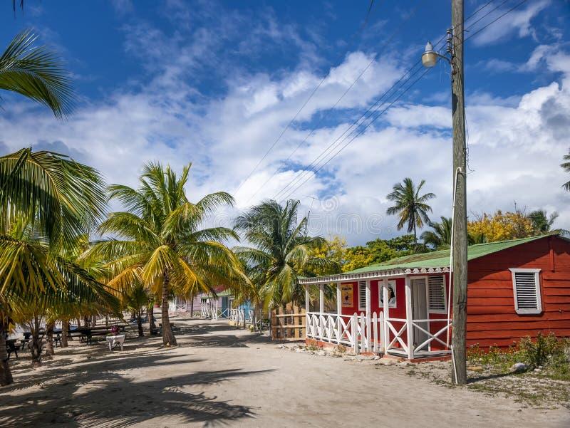 Vila tropical na ilha de Saona na República Dominicana fotografia de stock royalty free