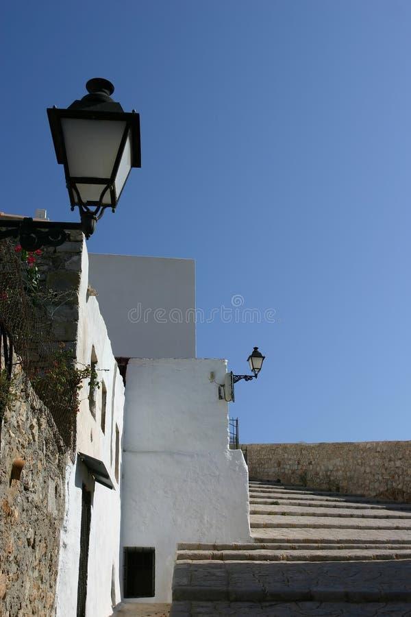 Vila van Ibiza dalt stock afbeeldingen