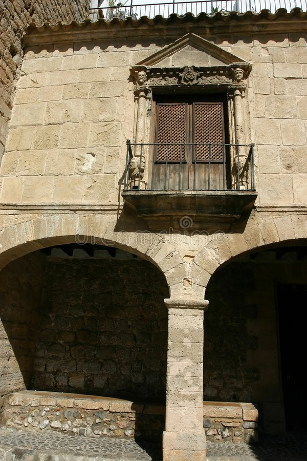 Vila van Ibiza dalt stock foto