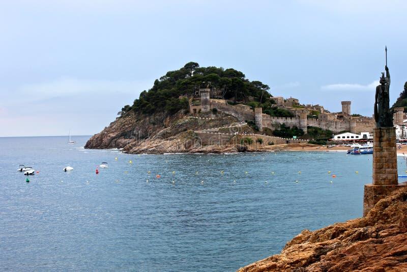 Vila Vella, Tossa de mar, Каталония, Испания стоковое изображение rf