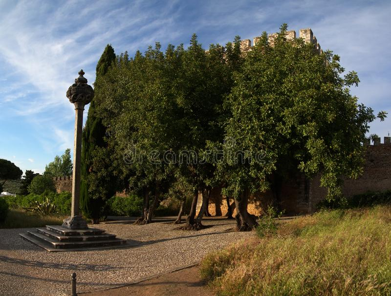 Vila Vicosa gothic kamienny pręgierz obraz stock