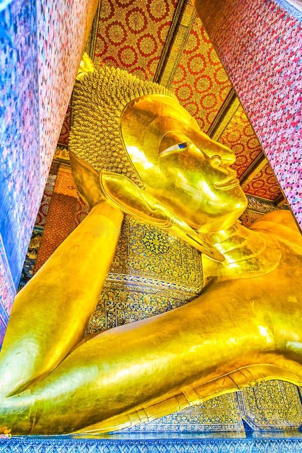 VilaBuddha i den Wat Pho templet, Bangkok, Thailand fotografering för bildbyråer