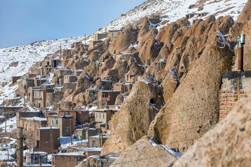 Vilage di Kandovan vicino a Tabriz fotografia stock libera da diritti