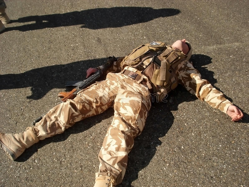 vilande soldat arkivbilder