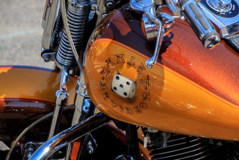 Vilassar de Dalt/Espagne ; 03 02 2019 : Motos de Harley Davidson en Vilassar de Dalt photographie stock