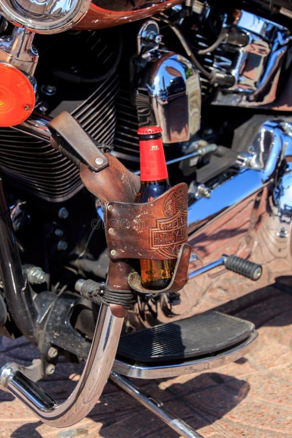 Vilassar de Dalt/Espagne ; 03 02 2019 : Motos de Harley Davidson en Vilassar de Dalt photos libres de droits