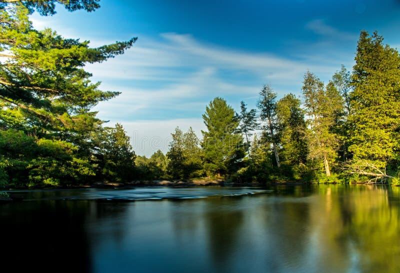 Vildmark för Serene Natural Scene In Canada ` s royaltyfri fotografi