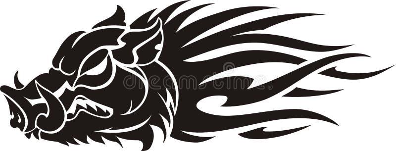 Vildsvinflamma stock illustrationer