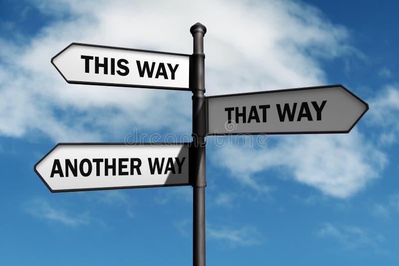 Vilken väg att gå? royaltyfria foton