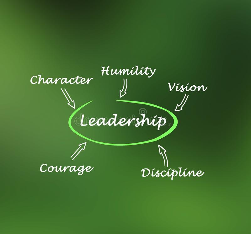 Vilket bra ledarskap är stock illustrationer
