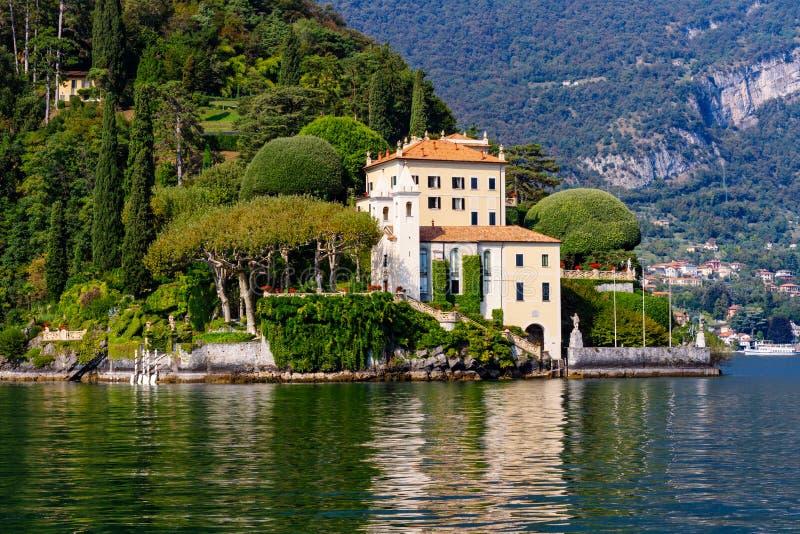 Villa台尔Balbianello,婚姻的别墅Como湖 免版税库存图片