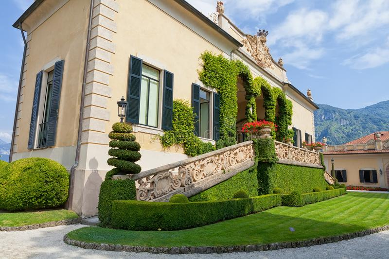 Villa在科莫湖,伦诺, Lombardia,意大利的del Balbianello 库存图片